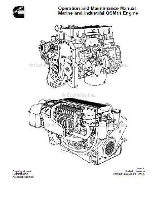 image Cummins ISM Operation and Maintenance manual, p1 of 389