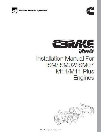 image Cummins ISM C-Brake installation manual, p1