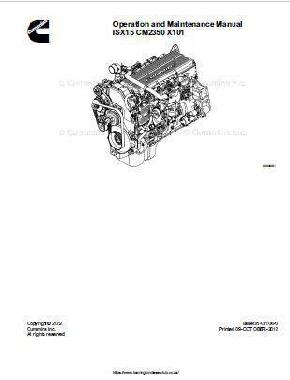 Cummins ISX cm2350 operation and maintenance manual p1