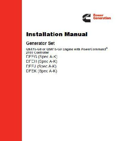 Cummins Genset G8 G9 installation manual p1