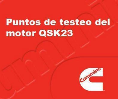 Cummins QSK23 puntos de testeo del motor p1