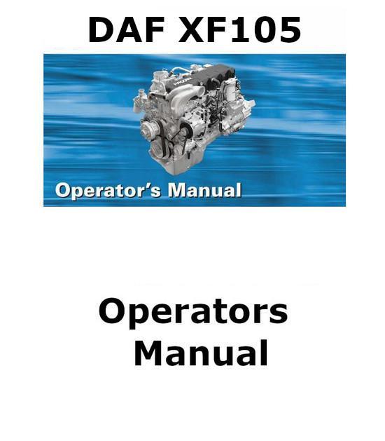 image Daf XF105 operators Manual p1