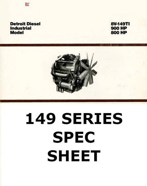 Detroit Diesel 149 spec sheet collection p1