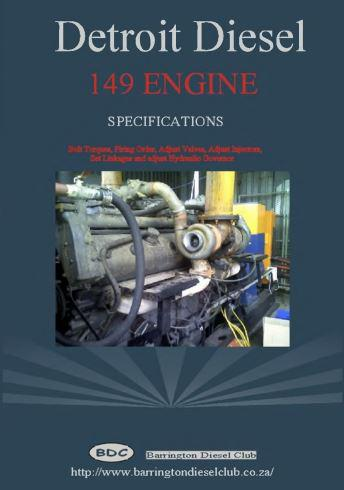 Detroit Diesel 149 specifications brochure p1