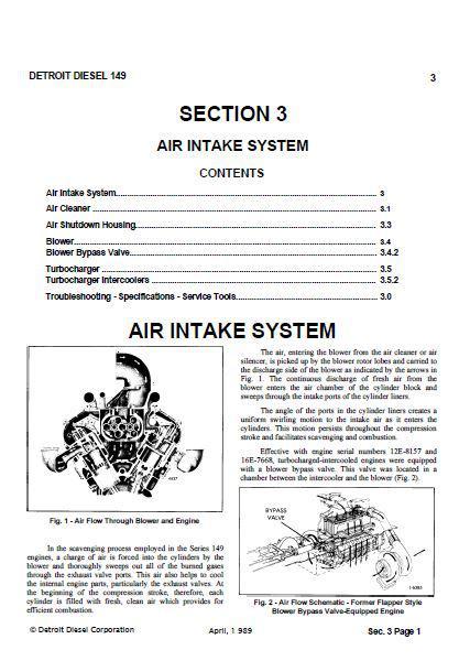 Detroit Diesel 12v149 workshop manual sections 3 thru 12, p1