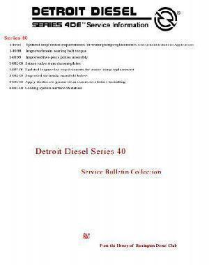 Detroit Diesel Series 40 Technical Bulletin Collection, p1