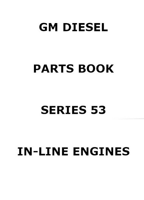 Detroit Diesel in line 53 series parts manual p1