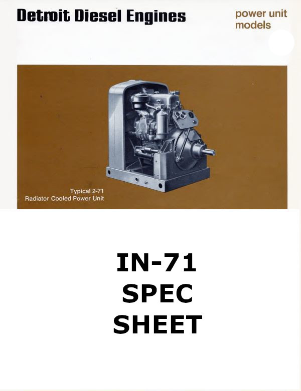 Detroit Diesel in line 71 engines spec sheet collection p1