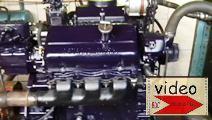 Image 6v-53 engine on test