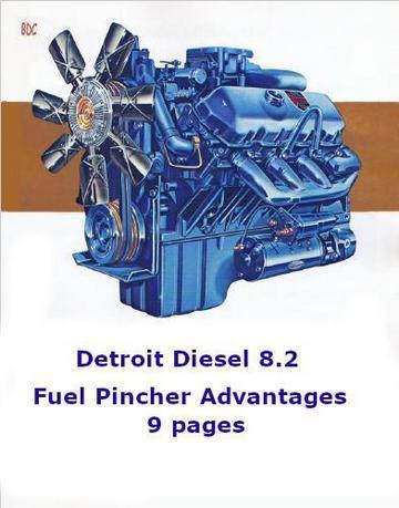 Detroit Diesel 8.2 liter fuel pincher advantages