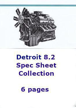 Detroit Diesel 8.2 liter spec sheet collection