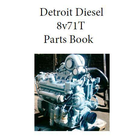 Detroit Diesel 8v71T engine parts book p1
