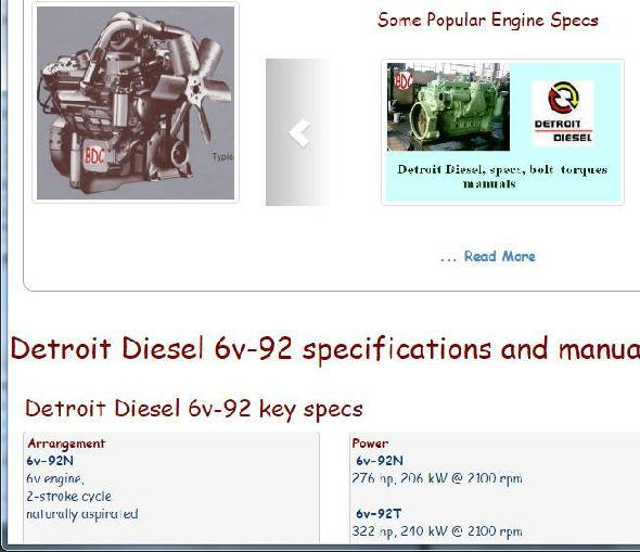 detroit diesel 6v 92 specs bolt torques workshop manual rh barringtondieselclub co za Detroit Diesel DD15 Engine Diagram Freightliner Detroit 60 Belt Diagram