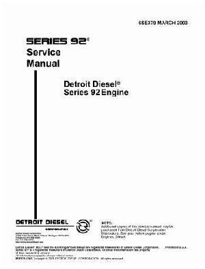 Detroit Diesel v92 workshop manual p1 of 2185 pages
