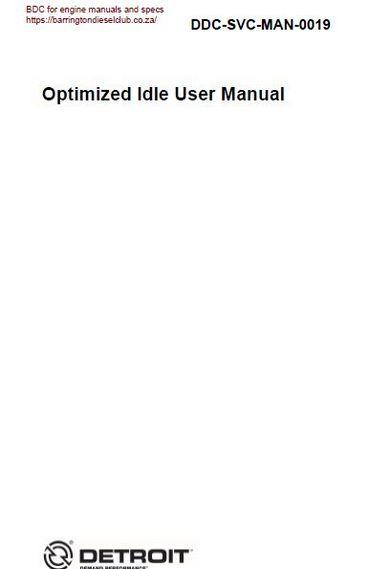 Detroit diesel dd optimized idle user man p1