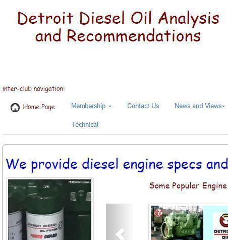 Detroit Diesel oil recommendations snip