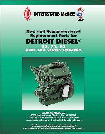 Detroit Diesel McBee parts list