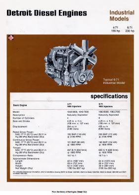 Detroit Diesel 4-71 and 6-71 Spec Sheet p1