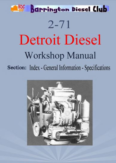 Detroit Diesel 2-71 workshop manual p1 of 399 pages