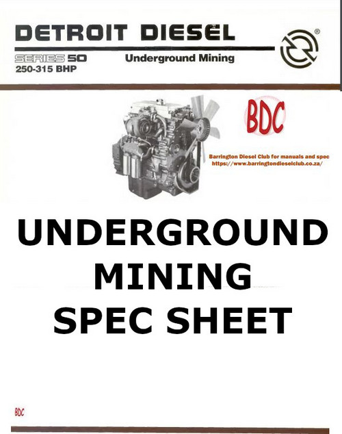 Detroit Series 50 Underground Mining Spec Sheet -  p1