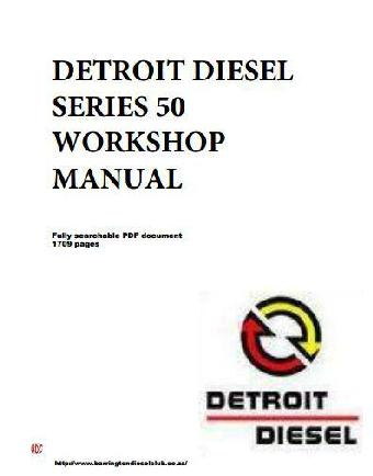 image Detroit Diesel Series 50 Workshop Manual -  p1 of 1709 pages