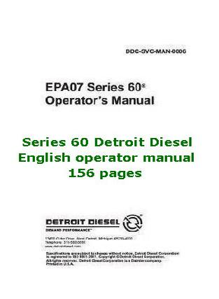 Detroit Diesel series 60 operator manual p1