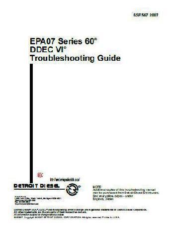 Detroit Diesel series 60 troubleshooting D-deck VI
