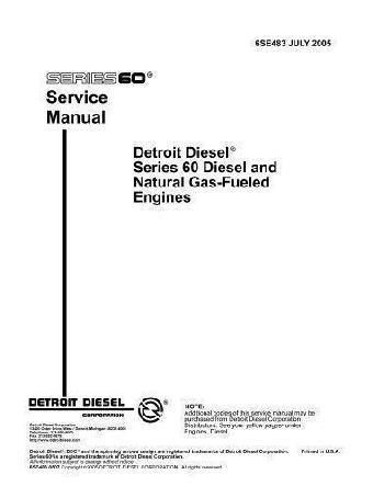 Detroit Diesel series 60 workshop manual 1669 pages