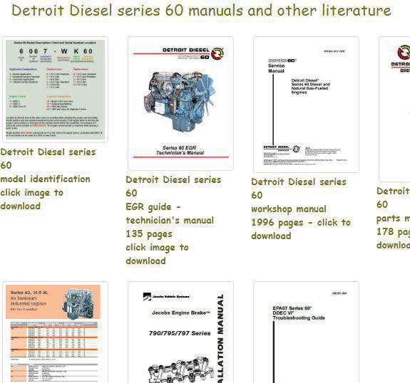 Detroit Diesel Series 60 Specs Bolt Torques And Manuals