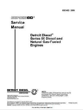 Detroit Diesel series 60 workshop manual 1685 pages