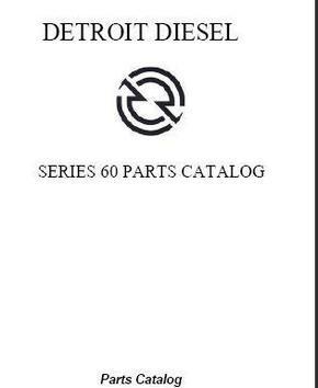 Detroit Diesel series 60 Parts Catalog