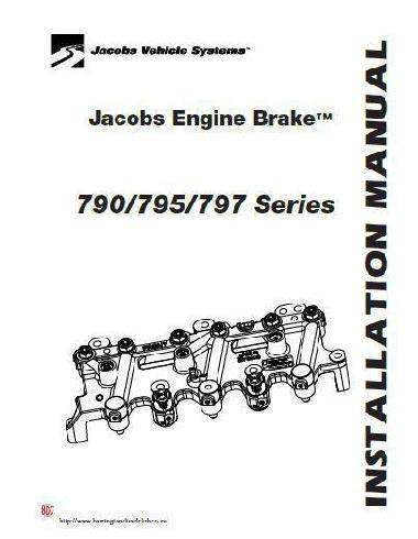Detroit Diesel series 60 jake brake installation