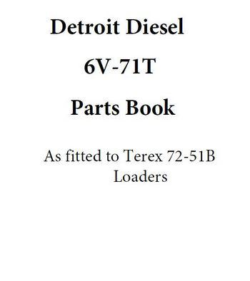 Detroit Diesel Terex 6v71T engines parts book