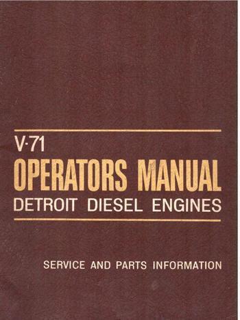 Detroit Diesel v71 engines operators manual