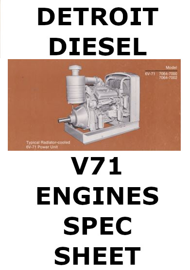 Detroit Diesel v71 engines spec sheet collection p1