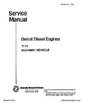 Detroit Diesel v71 workshop manual p1 of 626 pages