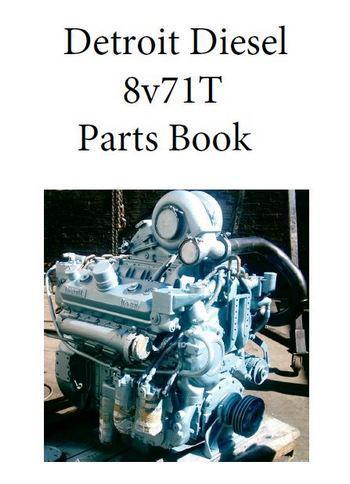 Detroit Diesel 8v71T engine parts book