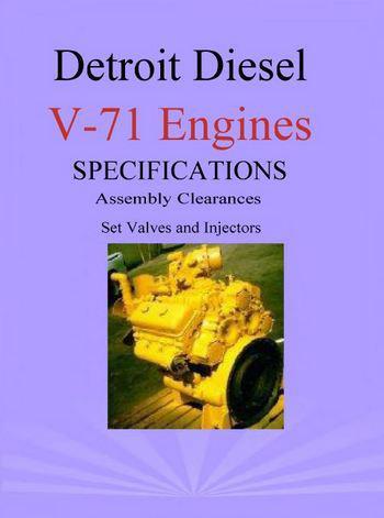 Detroit Diesel v71 engines tune up booklet