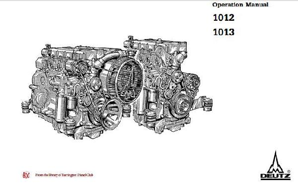 image Deutz 1012 1013 operation manual p1 of 118