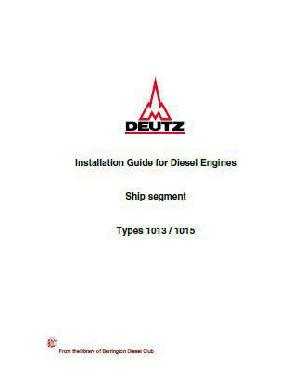 Deutz 1013 1015 installation guide for engines p1