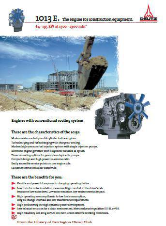 image Deutz 1013 EC Spec Sheet for construction applications p1