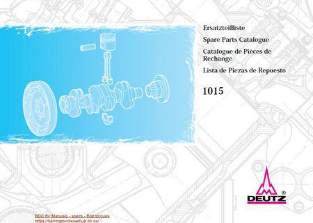 Deutz 1015 parts manual p1