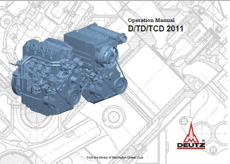image Deutz 2011D, 2011TD, 2011TCD operation and maintenance manual p1