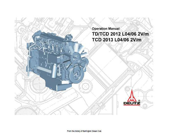 Deutz 2012, 2013 operation manual English p1