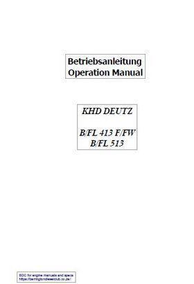 betriebsanleitug operation manual 413