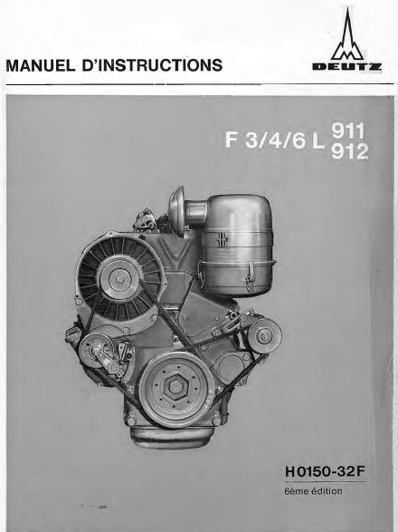 Deutz 911 912 manuel d'instructions p1