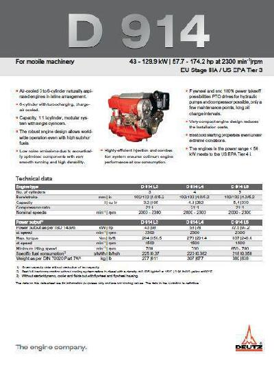 Deutz D914 spec sheet p1