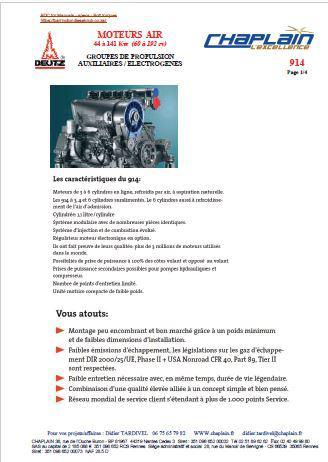 Deutz D914 spec sheet (French) p1