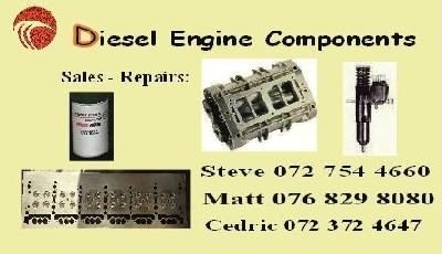 Detroit Diesel injectors, water pumps, heads, fuel pumps