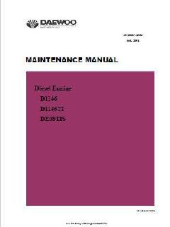 Doosan D1146 maintenance manual p1